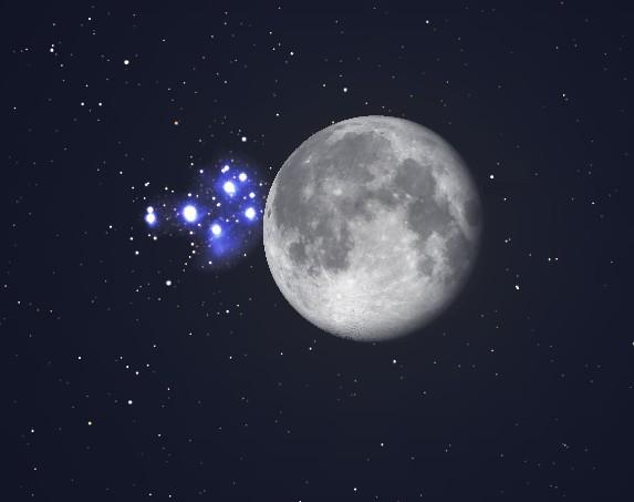 Luna-e-le-Pleiadi