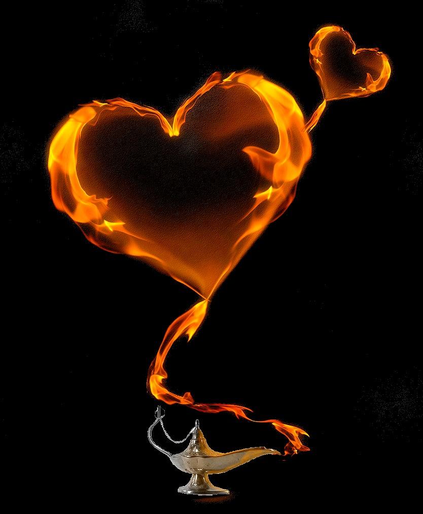 cuore lampada