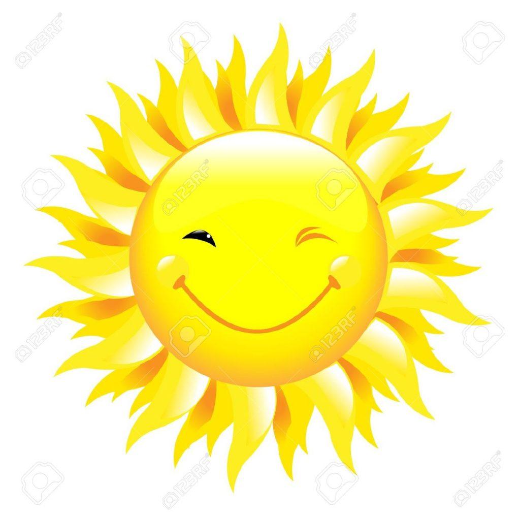 9194635-Sorridente-sole-isolato-su-sfondo-bianco-illustrazione-vettoriale--Archivio-Fotografico