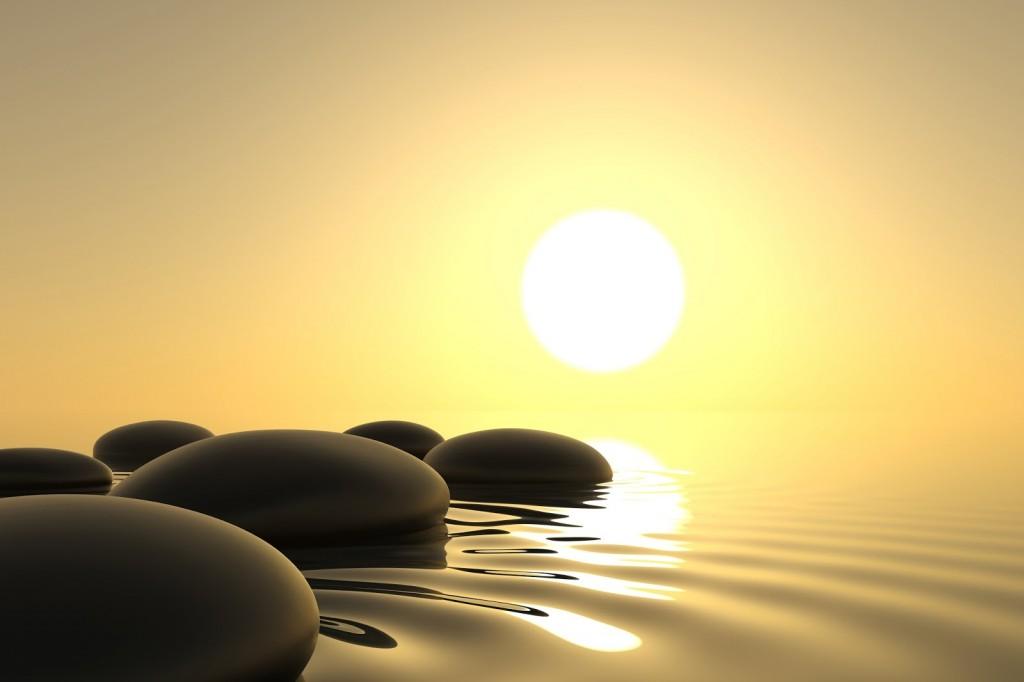mindfulnes 3 sole acqua pietre