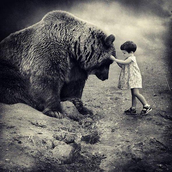 orso e bimba