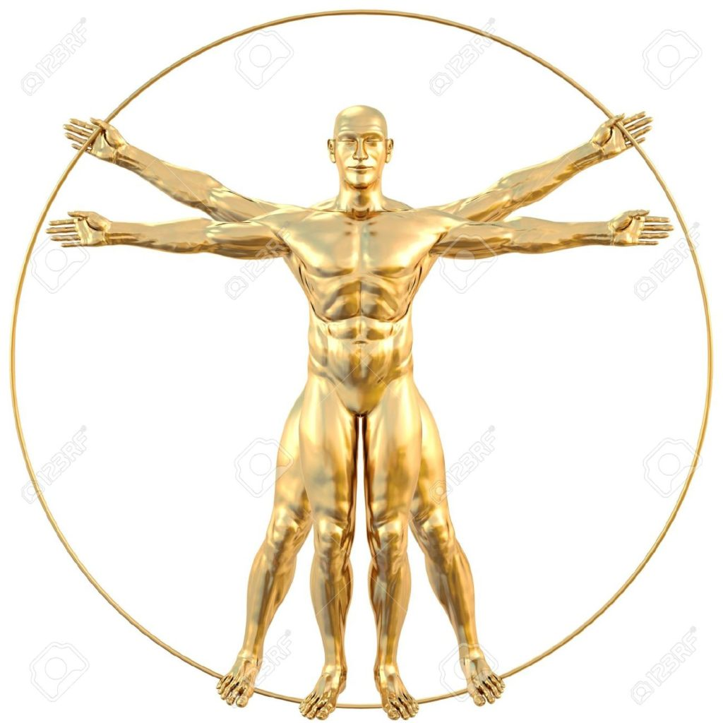 11020572-l-uomo-vitruviano-di-oro-isolato-su-bianco-archivio-fotografico